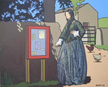 A Pre-Raphaelite Woman in Edale... by Kenneth North, Winner of Derbyshire Trophy 2009